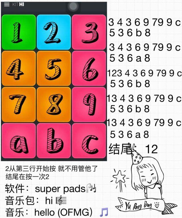 super pads教程Hello数字谱子大全介绍:Hello教程谱子怎么演奏[多图]