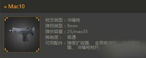 光荣使命Mac10冲锋枪使用攻略详解[多图]