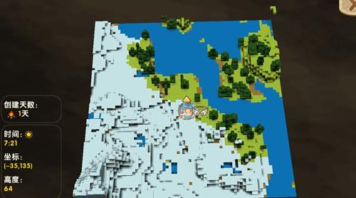 迷你世界冰原地形码及冰原商人种子分享[多图]