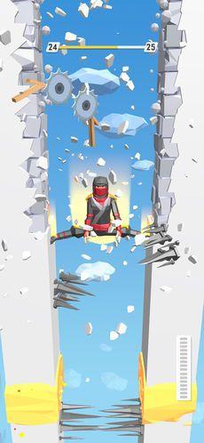 踢碎墙壁跳到底游戏图片1